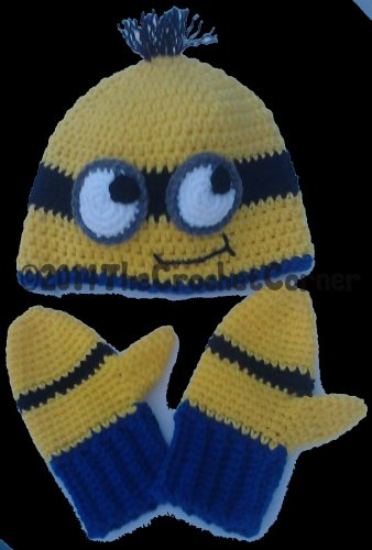 Character Hat & Mittens Set for kids