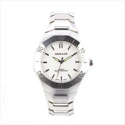 Men's Silver Stretch Link Watch