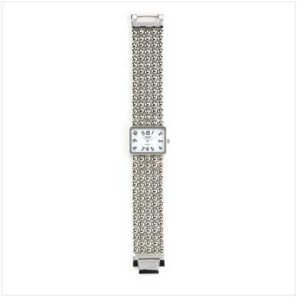 Silver Beaded Lady's Watch