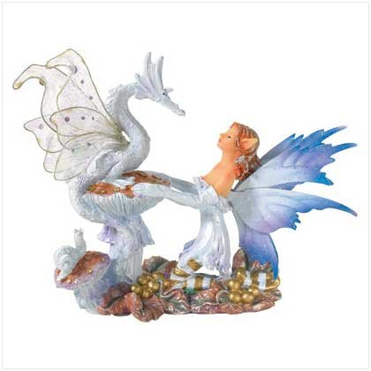 Fairy with Dragon Figurine