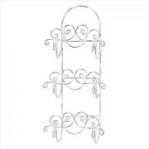 Distressed White Towel Holder