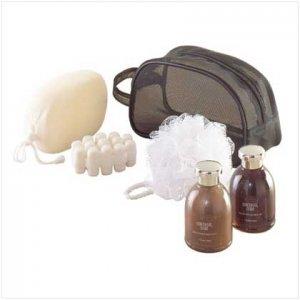 Man's Bath Set-mesh Travel Bag
