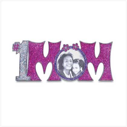 "#1 Mom"" Pewter Photo Frame"
