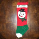 Handcrafted/Hand Made Heritage Knit Christmas Stocking - Snowman (Item#05)