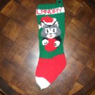 Handcrafted/Hand Made Heritage Knit Christmas Stocking - Kitten with Ball (Item#03)
