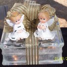 Holiday Lighted Glass Block - Angels