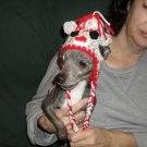 Hand Crafted Crocheted Sock Monkey Hat for Small Dog