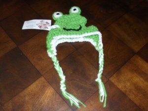 Hand Crafted Crocheted Hat for Small Dogs - Frog
