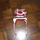 Hand Crafted Crocheted Cheerleader Hat for Small Dogs - Burgandy and White
