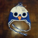 Crocheted Owl Ear-Flap Cap