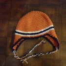 Crocheted Ear-Flap Hat/Cap
