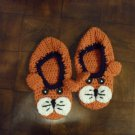 Crocheted Tiger Slippers