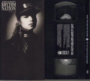 JANET JACKSON Jackson's RHYTHM NATION 1814 VHS