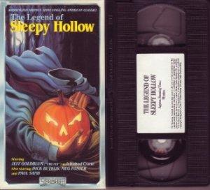 THE LEGEND OF SLEEPY HOLLOW Jeff Goldblum HALLOWEEN vhs