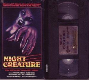 NIGHT CREATURE '78 Donald Pleasence JENNIFER RHODES VHS