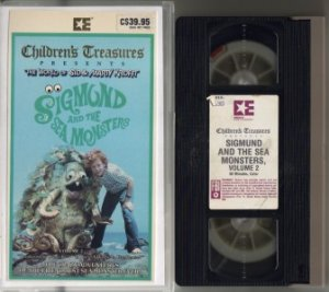 SIGMUND & THE SEA MONSTERS SID & MARTY KROFFT vhs