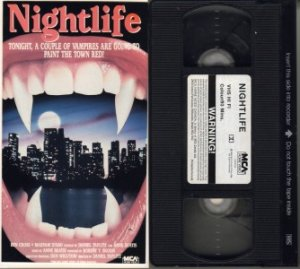 Nightlife Night Life 1989 Ben Cross D Abo Vampire Vhs