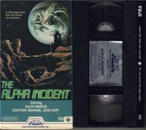 THE ALPHA INCIDENT 1977 RALPH MEEKER Media Home Entertainment VHS VIDEO