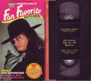 WWF WRESTLING'S FAN FAVORITE MATCHES '92 Undertaker VHS