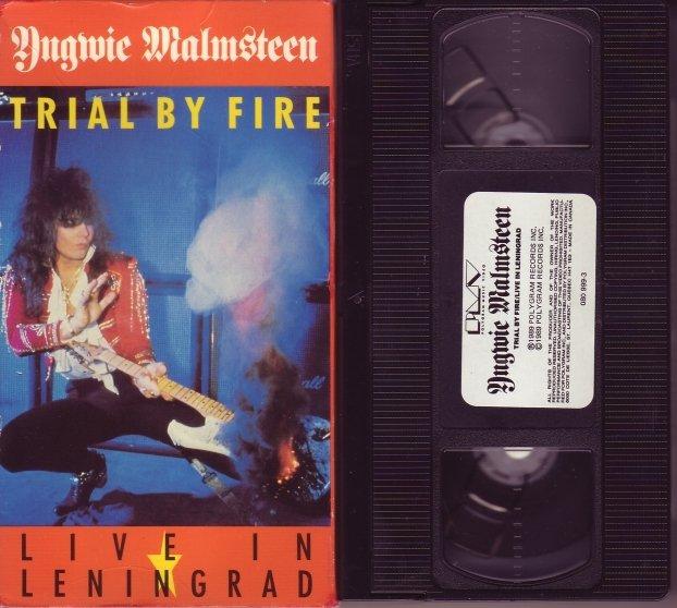 YNGWIE MALMSTEEN Trial By Fire LIVE IN LENINGRAD vhs VIDEO