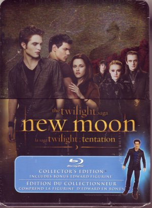 Twilight NEW MOON COLLECTOR'S ED BLU-RAY w/Tin & EDWARD FIGURINE