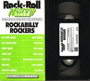 ROCK N ROLL HISTORY VIDEO Rock & Roll ROCKABILLY ROCKERS Elvis Presley RARE vhs