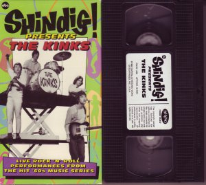 SHINDIG! Presents THE KINKS Rare OOP vhs video LIVE PERFORMANCES