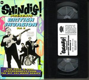 SHINDIG! Rare! BRITISH INVASION VOLUME 2 The YARDBIRDS Zombies ANIMALS vhs
