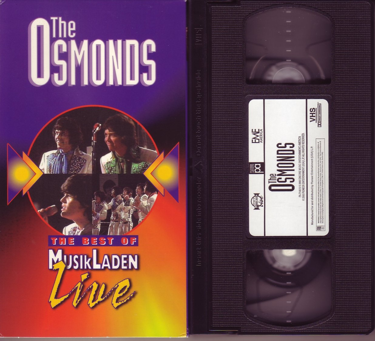 THE BEST OF MUSIKLADEN LIVE - THE OSMONDS 1972 Rare DONNY vhs VIDEO