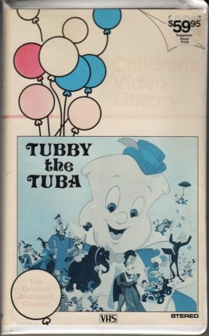 TUBBY THE TUBA 1977 Rare 81 MIN Animated MUSICAL 1983 CHILDREN'S VIDEO LIBRARY