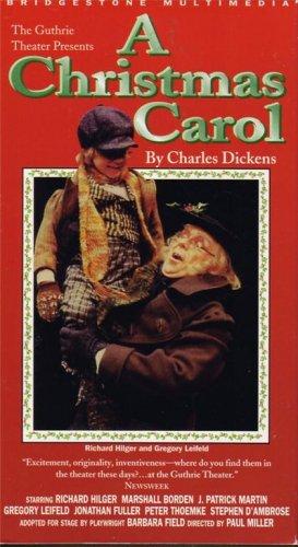 A CHRISTMAS CAROL Guthrie Theatre RICHARD HILGER Gregory Leifeld VHS - Not DVD