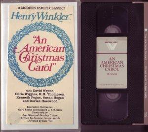 AN AMERICAN CHRISTMAS CAROL 1979 HENRY WINKLER Susan Hogan EBENEZER Scrooge VHS