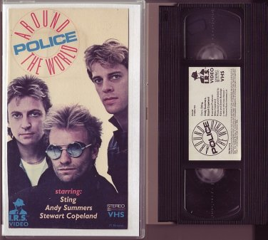 POLICE The AROUND THE WORLD TOUR 1980 1981 Sting RARE I.R.S. VIDEO VHS