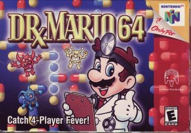 DR. MARIO 64 Dr RARE!!  GAME & BOX NINTENDO N64 Video Game