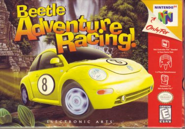 BEETLE ADVENTURE RACING! N64 NINTENDO 64 COMPLETE & MINT! BOX/GAME/INSTRUCTIONS