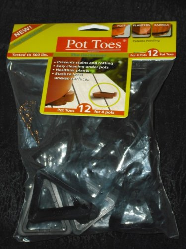 GARDEN POT TOES Container Gardening BLACK POT FEET Decksaver LIFTS CONTAINERS OFF THE GROUND!