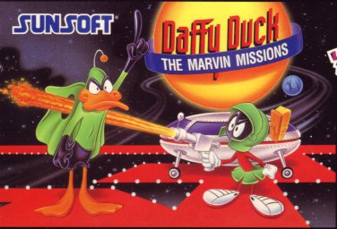 DAFFY DUCK The MARVIN MISSIONS Super Nintendo SNES COMPLETE!! BOX/VIDEO GAME/INSTUCTIONS