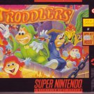 TRODDLERS COMPLETE!! SNES SUPER NINTENDO BOX/GAME/INSTRUCTIONS