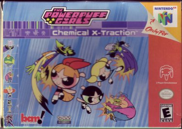 THE POWERPUFF GIRLS CHEMICAL X-TRACTION Nintendo 64 N64 VIDEO GAME