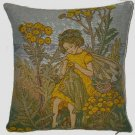 Tapestry Panel YELLOW TANSY FAIRY Cicely M Barker 14x14
