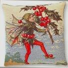 Tapestry Panel HOLLY FAIRY Cecily Mary Barker 14x14