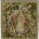 Tapestry Fabric Panel LADY WITH PARASOL New Woven in Italy, 14x14