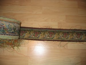 Tapestry Border Trim 3.5 Inch GREEN BURGUNDY 5 yards