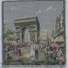 Italian Tapestry panel Paris Arc 14 x 14 Free Shipping