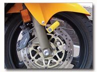 Diamond Plate Motorcycle Disc Lock
