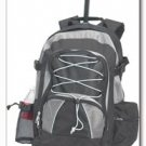 Maxam Combination Silver and Black Backpack/Rolling Cart