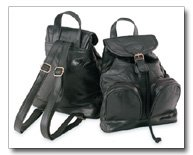 Maxam Italian Stone Design Genuine Leather Backpack/Purse