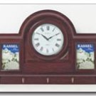 Kassel Wooden Photo Wall Clock With 3 Antique Finish Hooks