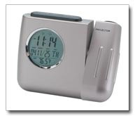Mitaki Japan LCD Projector Clock With Calendar Digital Thermometer Alarm Snooze And Light