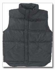 X60 Outerwear Unisex Polyester Black Vest - Medium